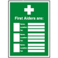 A4 First Aid Update Sign Holders For Printable Inserts